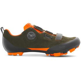 Fizik Terra X5 Suede MTB Schuhe military grün/orange fluo